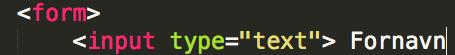 Eksempel på input-tag